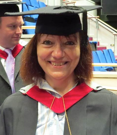 Helen at graduation ceremony at Buckinghamshire New University, High Wycombe